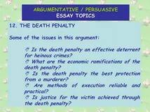 argumentative essay is the death penalty effective animal farm argumentative essay on death penalty argumentative essay