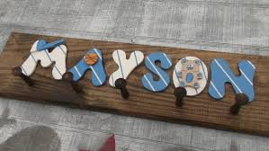 Name Coat Rack Enchanting Boys Name Coat Rack Hand Crafted And Hand Painted By Carolina