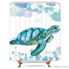 white sea turtle shower curtain free metal hooks 12 pack ocean animal colored shower curtain panel for bathtub shower curtains big lots nice world market