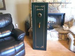 Stock On Gun Cabinet Stack On 8 Gun Safe With Combination Lock Youtube
