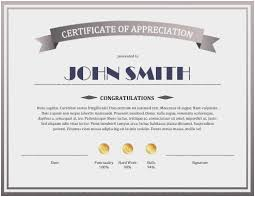Formal Certificates Certificate Of Commendation Sample Astonishing Formal Certificate
