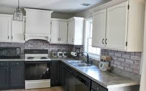 Kitchen marble top Countertops Backsplash For Kitchen With White Cabinets Features Grey Marble Top Kitchen Table With Drawers Single Sink Along With Stove And Microwave Madewithmagicco Kitchen Backsplash For Kitchen With White Cabinets Features Grey