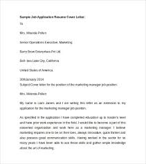 sample resume cover letter template 7 free documents in pdf word throughout 19 marvelous templates of cover letter for job application
