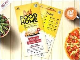 Food Menu Flyer Templates Free Brochure Template Skincense Co