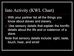 Kwl Chart Awesome Equiano Intro Notes Page 48 Into Activity KWL Chart With Your