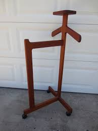 Valet Coat Rack Valet Butler Stand Men Clothes Danish Modern STYLE Coat Hanger Rack 73