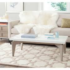 White Lacquer Coffee Table Safavieh Josef White And Gray Coffee Table Fox4223b The Home Depot