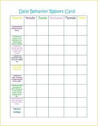 016 Weekly Behavior Chart Template Ideas Unforgettable