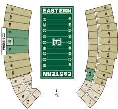 Seating Chart Michigan Football Stadium Eastern Michigan Eagles 2017 Football Schedule