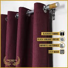 curtain essentials premium plain grommet blackout brocade jacquard double panel 2pcs 55