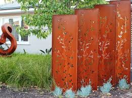 decorative metal outdoor privacy