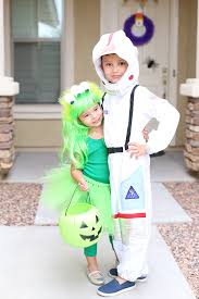 martian and astronaut sibling costumes