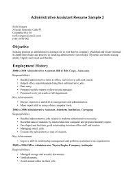 Famous Secretary Receptionist Resume Objective Mold