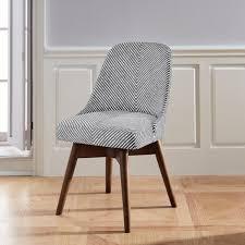 mid century desk chair. Mid-Century Swivel Office Chair - Painted Stripe Mid Century Desk R