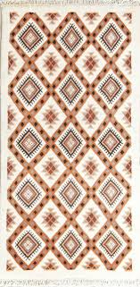 geometric tribal runner 3x6 moroccan oriental wool rug carpet 5 7 x 2 10 for
