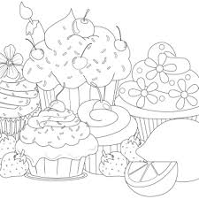 Small Picture cupcakes coloring page Color Art Therapy Food And Drinks