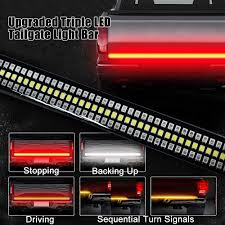 48 Light Bar Beatto Upgraded 48 Triple Led Tailgate Light Bar Side Bed Strip Sequential Amber Turn Signal Full Function Reverse Brake Running Lights For Pickup