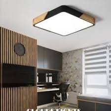 <b>NEO Gleam</b> Matte <b>Grey</b>/Black Modern Led Ceiling Lights For Living ...