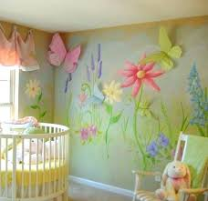 baby room murals baby nursery fl pattern wall murals and erfly wall decor baby nursery fl baby room murals