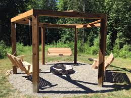 5 Swing Fire Pit We Built A Fire Pit Gazebo Swingset Lots Of Photos Album On