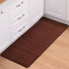 memory foam slow rebound mats absorbent non slip kitchen bathroom floor mat rug carpet bedroom bedside mats 50 160cm brown vjrx3gulj