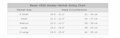 Bauer 4500 Helmet Size Chart Bauer 4500 Hockey Helmet Brand New Black X Large Xl Ice Roller Csa Hecc Ce