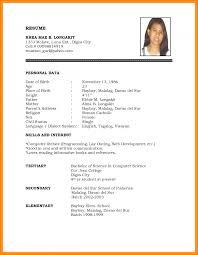 Resume Form 100 Blank Resume Form For Job Application Essay Checklist 3