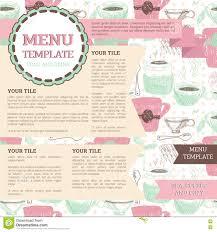 Tea Room Menu Template Stock Vector Illustration Of Floral