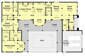 courtyard house plans u shaped awesome floor plan with pool in the middle for 2