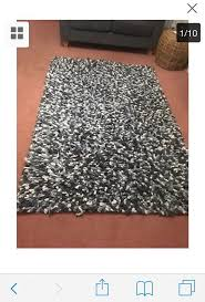 grey mix tuft jelly bean rug 80 wool 4ftx6ft