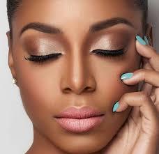 natural makeup look for brown skin tones hair