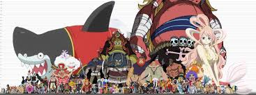 One Piece Anime Size Chart One Piece Heights Onepiece