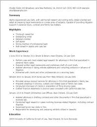 Resume Templates: Law Clerk
