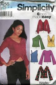 Simplicity Blouse Patterns Magnificent Blouse Pattern Simplicity 48 Off Shoulder Blouse Fitted Etsy