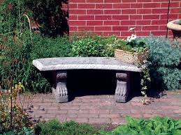 curved pattern top stone bench large