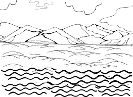 Water Sky Coloring Pages Print Coloring
