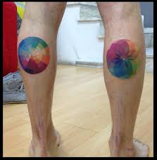 Gradient Rainbow Circles Tattoo By Live Two Best Tattoo Ideas Gallery