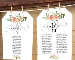 Seating Chart Wedding Vintage Rose Wedding Seating Chart Card Unconventional
