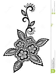 Flowers With Designs Beautiful Floral Element Black And White Flowers And Leaves