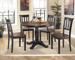 round dining table for 4 round glass top dining table set w 4 wood back side