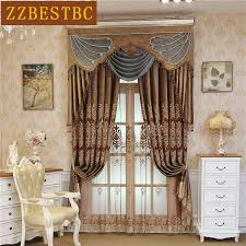 brown curtains for bedroom. Unique Brown 2018 Brown Luxury Villa Velvet Embroidered Curtains For Living Room High  Quality Classic Custom Curtain Bedroom Upscale Hotel From Luzhenbao524  To O