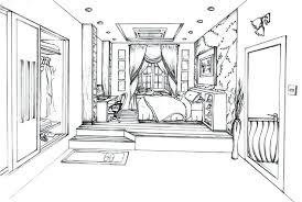 Drawing Of A Bedroom Interior Design Of The Classic Bedroom With