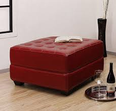 red leather ottoman coffee table a