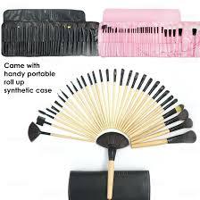 professional quality 32pcs wooden handle makeup brush cosmetic set kit