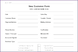 Customer Information Template New Business Client Information Template