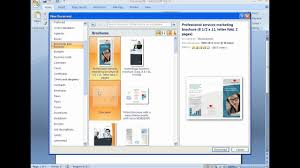 How To Make Your Own Brochure On Microsoft Word How To Create A Brochure With Microsoft Word 2007