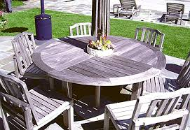 teak table and chairs before cleaning and staining