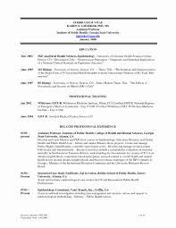 Public Health Resume Sample Sample Resume For Assistant Professor Position Inspirational 54