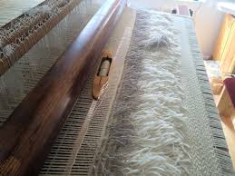 flokati rug on the loom