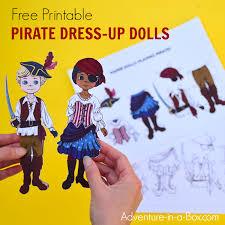 Free Craft Printables Templates Pirate Dress Up Dolls Free Printable Templates Adventure